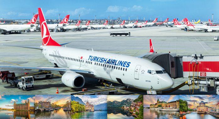 پروازهای ترکیش ایرلاینز به اروپا
